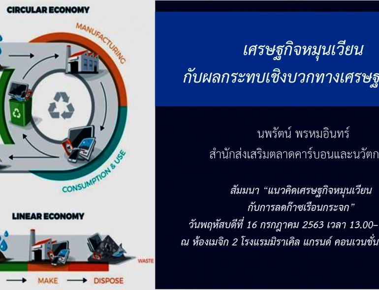 เศรษฐกิจหมุนเวียน กับผลกระทบเชิงบวกทางเศรษฐศาสตร์